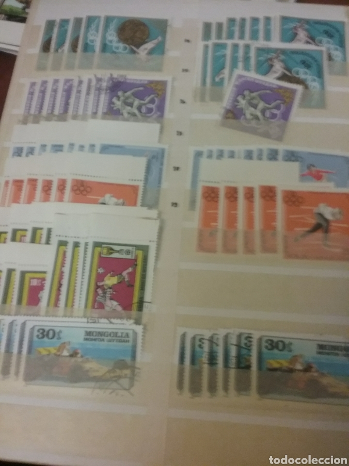 Sellos: Sellos R. Mongolia mtdos/coleccion/stock/sellos/pliegos/deportes/astros/cosmos/infancia/animales - Foto 7 - 196398435