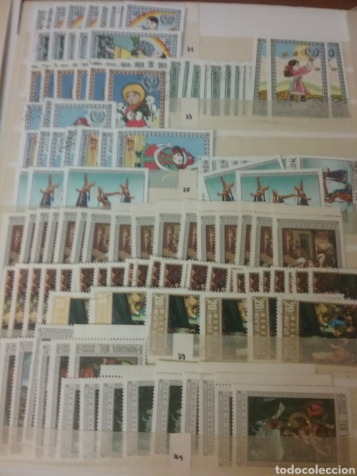 Sellos: Sellos R. Mongolia mtdos/coleccion/stock/sellos/pliegos/deportes/astros/cosmos/infancia/animales - Foto 13 - 196398435