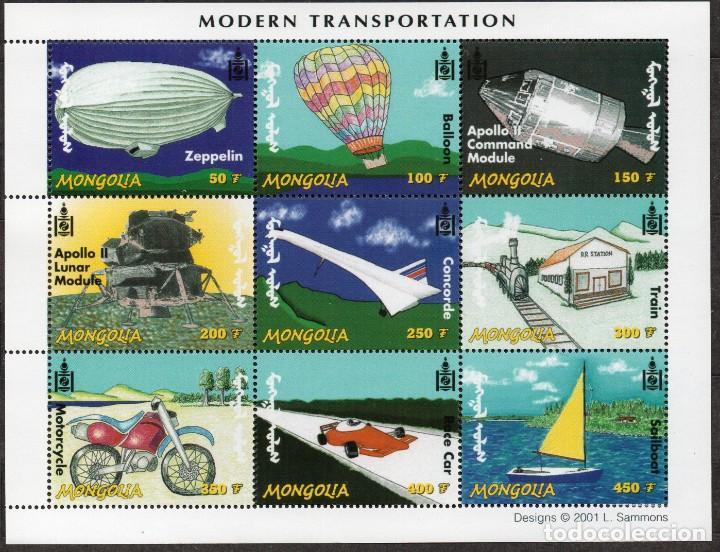 MONGOLIA/2001/MNH/SC#2500/ TRANSPORTES MODERNOS (Sellos - Extranjero - Asia - Mongolia)