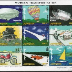 Sellos: MONGOLIA/2001/MNH/SC#2500/ TRANSPORTES MODERNOS. Lote 221340116