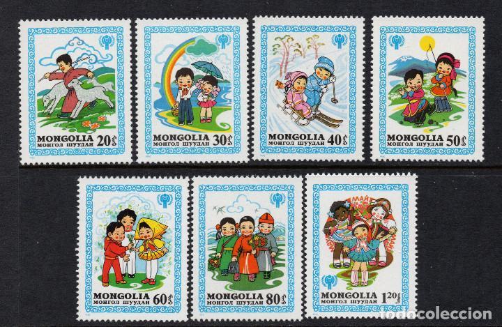 MONGOLIA 1088/94** - AÑO 1980 - AÑO INTERNACIONAL DEL NIÑO - ILUSTRACIONES DE CUENTOS (Sellos - Extranjero - Asia - Mongolia)