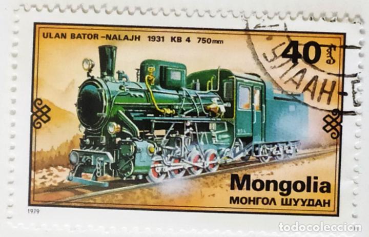 SELLO DE MONGOLIA 40 - 1979 - LOCOMOTORA KB4 - USADO SIN SEÑAL DE FIJASELLOS (Sellos - Extranjero - Asia - Mongolia)