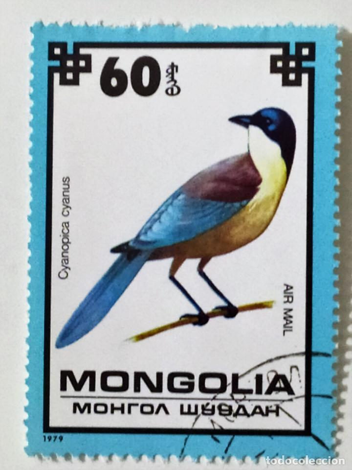 SELLO DE MONGOLIA 60 - 1979 - PAJAROS - USADO SIN SEÑAL DE FIJASELLOS (Sellos - Extranjero - Asia - Mongolia)