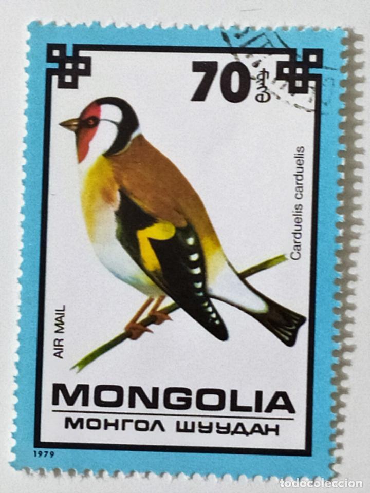 SELLO DE MONGOLIA 70 - 1979 - PAJAROS - USADO SIN SEÑAL DE FIJASELLOS (Sellos - Extranjero - Asia - Mongolia)