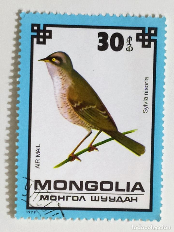 SELLO DE MONGOLIA 30 - 1979 - PAJAROS - USADO SIN SEÑAL DE FIJASELLOS (Sellos - Extranjero - Asia - Mongolia)