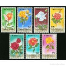 Sellos: ⚡ DISCOUNT MONGOLIA 1988 ROSES MNH - ROSES. Lote 274785838