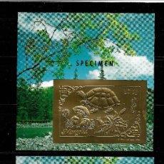 Sellos: MONGOLIA 1993, HOJA BLOUE 228/29 ORO Y PLATA TOPEX'93. MNH.. Lote 287441783