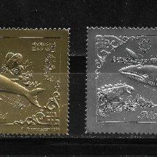 Sellos: MONGOLIA 1993, SERIE BALLENA, PECES EN ORO Y PLATA. MNH.. Lote 287444578