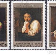 Sellos: LOTE DE SELLOS DE MONGOLIA - PINTURA - PINTORES - (ENVIO COMBINADO COMPRA MAS). Lote 287739963