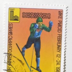 Sellos: SELLO DE MONGOLIA 20 M - 1980 - LAKE PLACID 80 - USADO SIN SEÑAL DE FIJASELLOS. Lote 288017393
