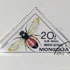 Sellos: SELLO DE MONGOLIA 20 M - 1980 - INSECTOS - USADO SIN SEÑAL DE FIJASELLOS. Lote 288017888