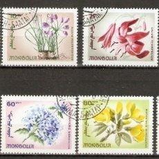 Sellos: MONGOLIA. 1966. MI. 435/42. FLORES. Lote 295589983