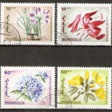 Sellos: MONGOLIA. 1966. MI. 435/42. FLORES. Lote 295591388