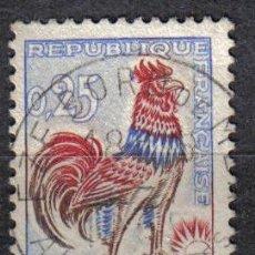 Sellos: FRANCIA 1962-65 0.25 F YVERT 1331 - GALLO. Lote 8126623