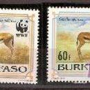 Sellos: WWF BURKINA FASO 1993. Lote 27429220