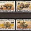Sellos: WWF CENTROAFRICA 1983. Lote 27098297