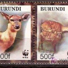 Sellos: WWF BURUNDI 2004. Lote 27429219