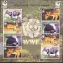Sellos: WWF LIBERIA 2005 MINI HOJA. Lote 27429232