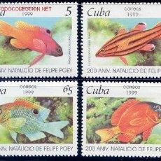 Sellos: CUBA 1999 3801/4 PECES 4V . Lote 2092881