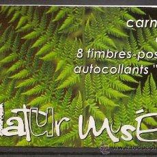 Sellos - LUXEMBURGO,CARNET 2002,NATURALEZA,MATASELLO 1er DIA DE EMISION,DOS FOTOS. - 27406111