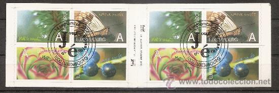 Sellos: LUXEMBURGO,CARNET 2002,NATURALEZA,MATASELLO 1er DIA DE EMISION,DOS FOTOS. - Foto 2 - 27406111