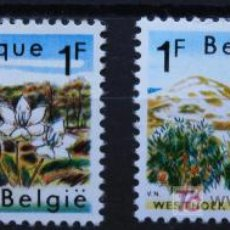 Sellos: BÉLGICA BELGIUM SELLOS NUEVOS MNH FLORES FLOWERS FL-02. Lote 15223729