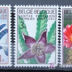 Sellos: BÉLGICA BELGIUM SELLOS NUEVOS MNH FLORES FLOWERS FL-03. Lote 15223734