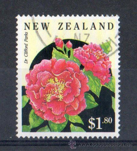 NUEVA ZELANDA AÑO 1992 MI 2241ºº FLORA - CAMELIAS - FLORES DE JARDÍN - NATURALEZA (Sellos - Temáticas - Naturaleza)