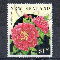 Sellos: NUEVA ZELANDA AÑO 1992 MI 2241ºº FLORA - CAMELIAS - FLORES DE JARDÍN - NATURALEZA. Lote 16086586