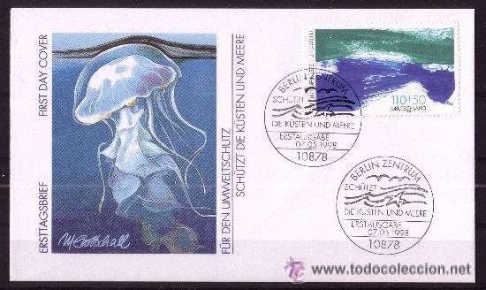 ALEMANIA SPD 1821- AÑO 1998 - PROTECCION DEL MEDIO AMBIENTE - PROTECCION DE LOS MARES Y LAS COSTAS (Sellos - Temáticas - Naturaleza)