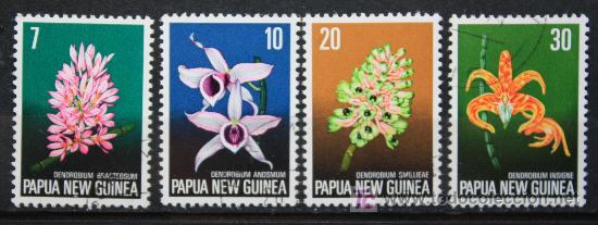 PAPUA NUEVA GUINEA SELLOS NUEVOS MNH FLORES FL-38 (Sellos - Temáticas - Naturaleza)