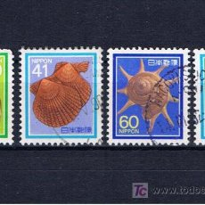 Sellos: CARACOLES DE MAR 4 SELLOS DE JAPON. Lote 17745415