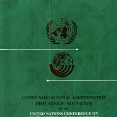 Sellos: NACIONES UNIDAS AÑO 1992 - SOUVENIR FILATELICO DE LA CUMBRE DEL PLANETA TIERRA RIO DE JANEIRO. Lote 24441035