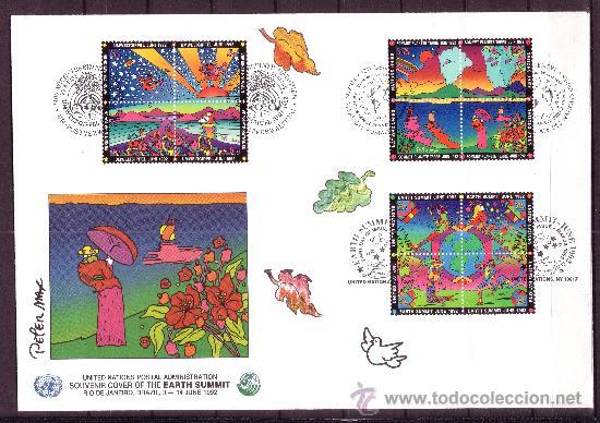Sellos: NACIONES UNIDAS AÑO 1992 - SOUVENIR FILATELICO DE LA CUMBRE DEL PLANETA TIERRA RIO DE JANEIRO - Foto 3 - 24441035