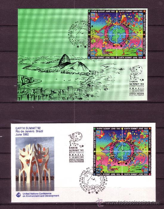 Sellos: NACIONES UNIDAS AÑO 1992 - SOUVENIR FILATELICO DE LA CUMBRE DEL PLANETA TIERRA RIO DE JANEIRO - Foto 4 - 24441035