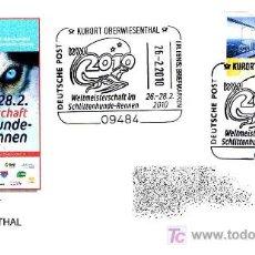 Sellos: PERROS - CAMPEONATO MUNDO CARRERA DE TRINEOS KURORT 2010. Lote 18004786