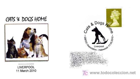 MATASELLOS DE PERROS Y GATOS - LIVERPOOL 2010 (Sellos - Temáticas - Naturaleza)