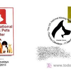 Sellos: MATASELLOS DE PERROS-DOGS-CHIENS. REGISTRO NACIONAL DE MASCOTAS PERDIDAS. THORTON-CLEVELEYS 2010. Lote 18628220
