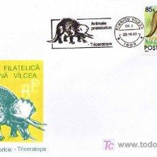 Sellos: MATASELLOS DE PREHISTORIA - TRICERATOPS. RIMNICU VILCEA, RUMANIA, 1993. Lote 18899394