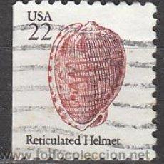 Sellos: ESADOS UNIDOS (21-18), HELMER RETICULADO (CONCHA), USADO. Lote 19694582
