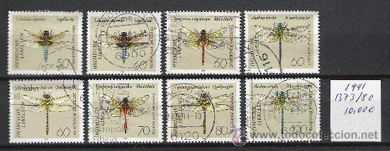 0102-ALEMANIA SERIE COMPLETA INSECTOS LIBELULAS AÑO 1991 Nº 1373/80.VALOR 10,00€ (Sellos - Temáticas - Naturaleza)