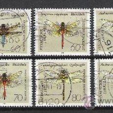 Sellos: 0102-ALEMANIA SERIE COMPLETA INSECTOS LIBELULAS AÑO 1991 Nº 1373/80.VALOR 10,00€. Lote 53271760