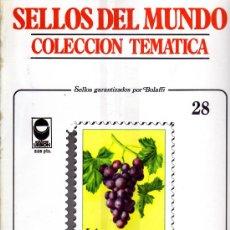 Sellos: SELLOS DEL MUNDO - COLECCION TEMATICA Nº 28 - ED. URBION - FRUTOS.. Lote 246287565