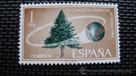 1966 VI CONGRESO FORESTAL MUNDIAL, EDIFIL, 1736 BIODIVERSIDAD FORESTAL (Sellos - Temáticas - Naturaleza)