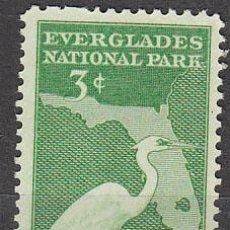 Sellos: ESTADOS UNIDOS (09-52), PARQUE NACIONAL DE EVERGLADES (AÑO 1947) NUEVO. Lote 29204649
