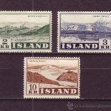 Sellos: ISLANDIA 274/76* - AÑO 1957 - GLACIARES ISLANDESES. Lote 29678287