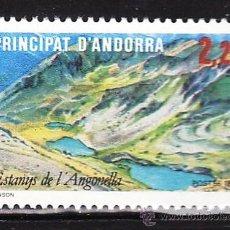 Sellos - andorra francesa - turismo / lago angonella / naturaleza - 1 val - s.c.- nueva - año 1986 - 31830411