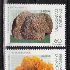 Sellos - andorra española - naturaleza - peu rata / tofona - setas/ micologia - 2val - s.c.- nueva - año 1996 - 32011500
