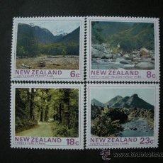 Sellos: NUEVA ZELANDA 1975 IVERT 635/8 *** PARQUES NACIONALES - PAISAJES Y NATURALEZA. Lote 33446948