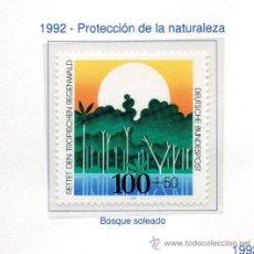 Sellos: ALEMANIA FEDERAL=YVERT Nº 1443=PROTECCION NATURALEZA=AÑO 1992=CATALOGO 2,50 €. Lote 35958996